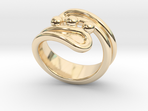 Threebubblesring 16 - Italian Size 16 in 14K Yellow Gold