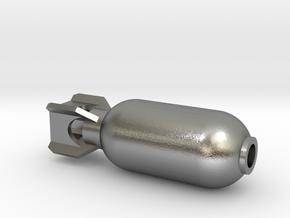 DRAW pendant - color plastic bomb in Natural Silver