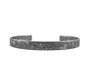 Corrosion -  Size 7.50 Sterling Silver Bangle Brac in Polished Silver: Extra Large