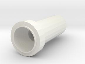 Golf Tee in White Natural Versatile Plastic