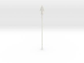 """BotW"" Enhanced Lizal Spear in White Natural Versatile Plastic: 1:12"