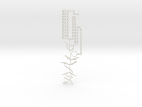 """""""At the French Windows"""" Necklace #1 in White Natural Versatile Plastic"""