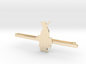 Duck Hunter Tie Clip  in 14k Gold Plated Brass