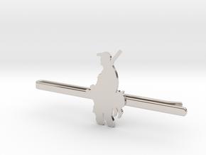 Duck Hunter Tie Clip  in Rhodium Plated Brass