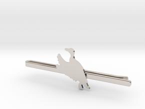 Duck 2 Tie Clip  in Rhodium Plated Brass