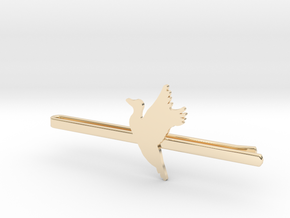 Duck 1 Tie Clip  in 14k Gold Plated Brass
