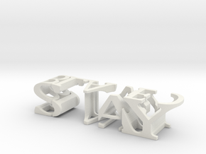3dWordFlip: STAY/BLADED in White Strong & Flexible