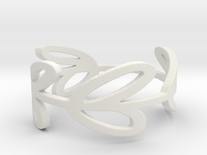 8 Leaf Ring in White Natural Versatile Plastic: 6 / 51.5