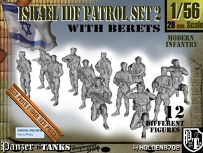 1-56 IDF BERET PATROL SET 2 in Smooth Fine Detail Plastic