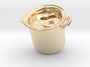 Big Pot Keychain in 14K Gold