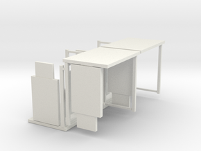 1:76th Bus shelter type 3 (4 pack) in White Strong & Flexible