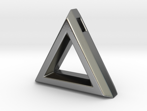 Chisel ::: Triangle Pendant ::: v.01 in Polished Silver