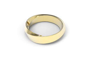 Mobius Wide Ring II (Size 11 3/8) in 14k Gold Plated
