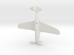 1:285 P-40 in White Natural Versatile Plastic