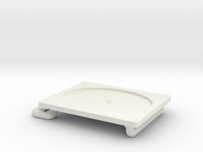 Belt Buckle in White Natural Versatile Plastic