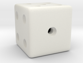 Weighted, or Loaded Die (Favors a Roll of 1) in White Strong & Flexible