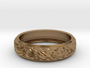 Ripple Ring in Natural Brass: 8 / 56.75