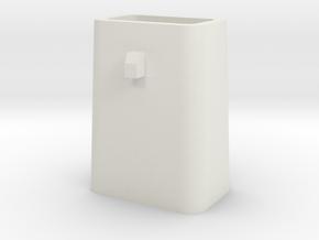 Stahlkokille 2 Zapfen quer mit Boden 1:120 in White Strong & Flexible