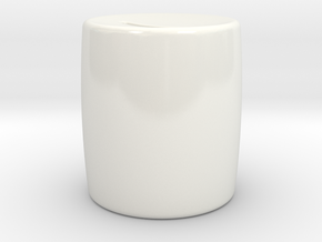 Moneybox mini in Gloss White Porcelain