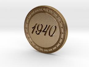 1940 Birth Year Pendant in Polished Gold Steel
