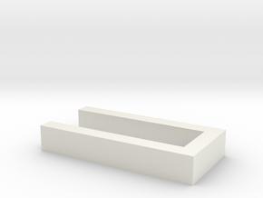 Hecke für Grabeinfassungen 1:120 in White Natural Versatile Plastic