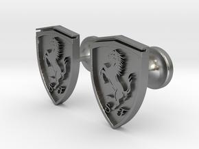 Ferrari cufflinks in Raw Silver