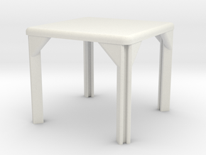 Table, Stadio 96, Square (Space: 1999), 1/30 in White Natural Versatile Plastic