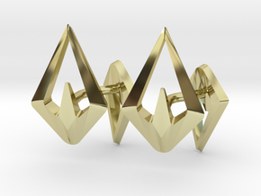HEAD TO HEAD Sharp, Cufflinks  in 18K Gold Plated