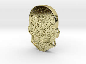 Skull Cuff in 18k Gold Plated