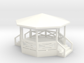 Bandstand/Gazebo - 16-foot N-scale in White Processed Versatile Plastic
