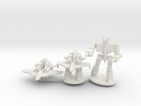 Omega-C Fighter on Sprue in White Natural Versatile Plastic