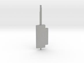 Flap Rudder (Main Blade) V03 1/100 in Aluminum