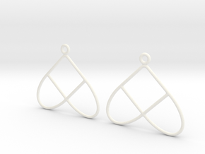 Celtic Weave Earrings - WE028 in White Processed Versatile Plastic