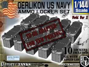 1/144 Oerlikon USN X10 Locker Closed in Smooth Fine Detail Plastic