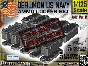 1-125 Oerlikon USN X10 Ammo Locker  in Smooth Fine Detail Plastic