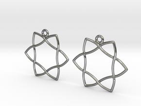 Celtic Weave Earrings - WE029 in Polished Silver
