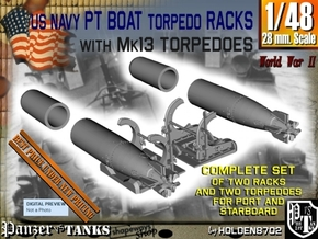 1-48 PT Torpedo Rack TypA Set2.stl in Smooth Fine Detail Plastic