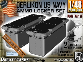 1-48 Oerlikon US Navy Ammo Locker Set 3 in Smooth Fine Detail Plastic