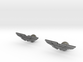 Aston Martin Cufflinks in Raw Silver