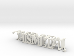 3dWordFlip: THISMETAL/WEBSHOW in White Strong & Flexible