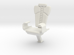 Captain's Chair (Star Trek The Motion Picture) in White Natural Versatile Plastic: 1:30