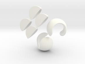 tangerine-puzzle in White Processed Versatile Plastic
