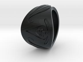 Pirate Assassin's ring in Black Hi-Def Acrylate: 8 / 56.75