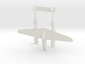 1:285 P-38 Lightning  in White Natural Versatile Plastic