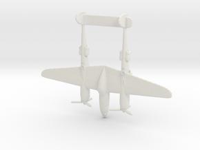 1:285 P-38 Lightning  in White Natural Versatile Plastic