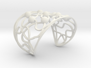 Twisted Bead Bangle in White Natural Versatile Plastic