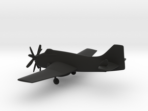 Fairey Gannet AEW.3 in Black Natural Versatile Plastic: 1:160 - N