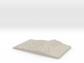 Model of Mount Tobin in Natural Sandstone
