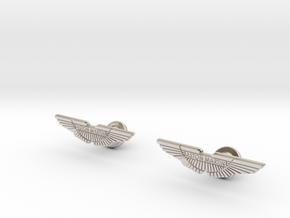 Aston Martin Cufflinks in Rhodium Plated Brass