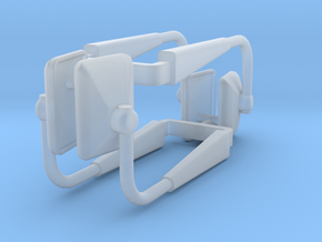(2) MODERN MANUAL ADJUST MIRROR SETS in Smooth Fine Detail Plastic